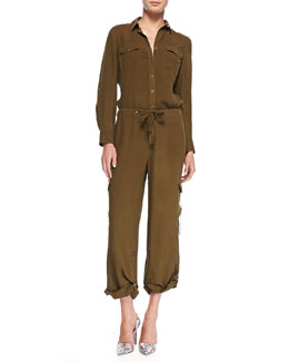 Go Silk Silk Safari Shirt & Cargo Pants