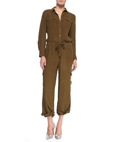 Silk Safari Shirt & Cargo Pants