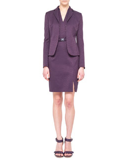 Akris punto Jacquard Jacket & V-Neck Halter Dress