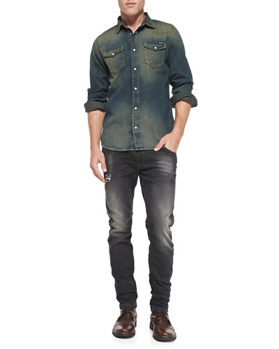 New-Senora Vintage Denim Shirt  & Krooley 0835B Jogger Jeans
