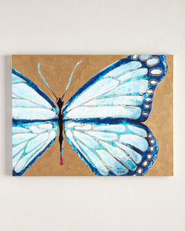 "Jennifer Moreman ""Evelyn"" Blue Butterfly"