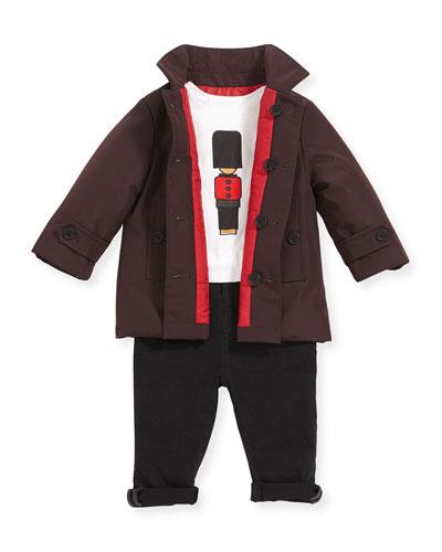 Burberry Reversible Tech-Fabric Coat, Royal Guard Tee &
