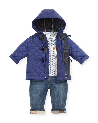 Quilted Nylon Toggle Coat, Boys