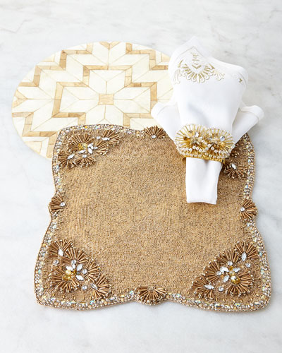Kim Seybert Champagne, Natural, & White Table Linens