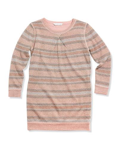 Little Marc Jacobs Girls' Striped Metallic Shirtdress