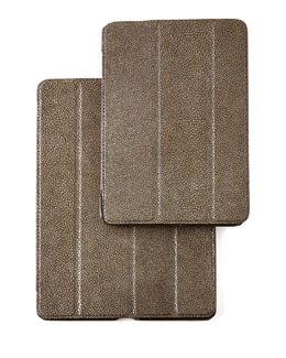 Stingray-Embossed Leather iPad Cases
