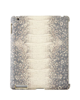 Iguana-Embossed Leather iPad Cases