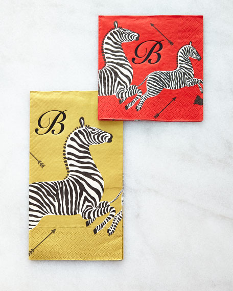 100 Zebras Buffet Napkins/Guest Towels