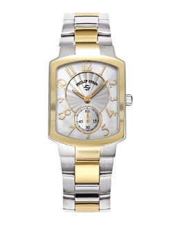 Philip Stein Small Classic Two-Tone Gold Watch Head & Two-Tone Gold Plated Bracelet, 18mm