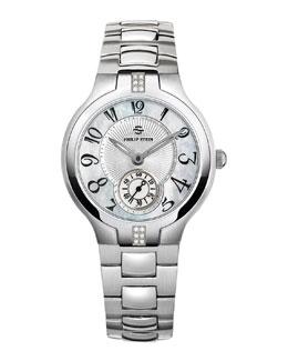 Philip Stein Small Signature Sport Diamond Watch Head & 18mm Stainless Steel Bracelet