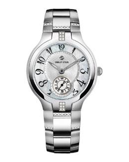 Philip Stein Small Signature Sport Diamond Watch Head & 18mm Stainless Steel Diamond Bracelet
