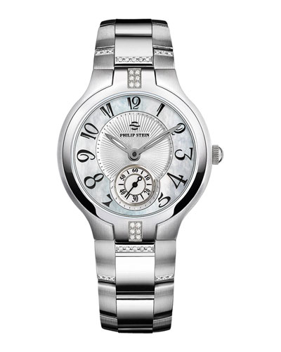 Philip Stein Small Signature Sport Diamond Watch Head & 18mm Stainless Steel Diamond Bracelet
