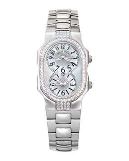 Philip Stein Small Signature Sport Double 72-Diamond Watch Head & 18mm Stainless Steel Bracelet