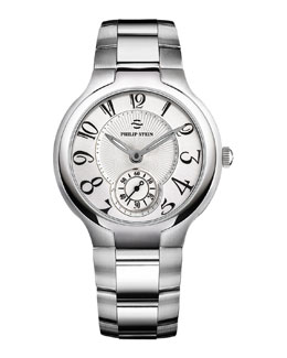 Philip Stein Large Steel Round Watch Head & 20mm Stainless Steel Bracelet