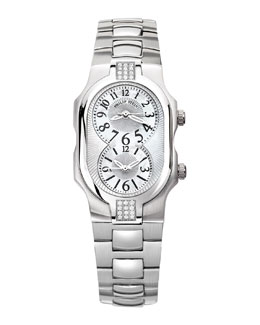Philip Stein Small Signature Sport Double 24-Diamond Watch Head & 18mm Stainless Steel Bracelet