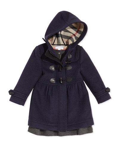 Burberry Girls' Hooded Wool Coat & Long-Sleeve Knit Dress
