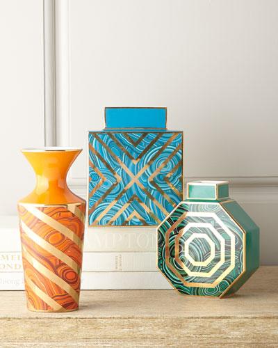 Jonathan Adler Malachite Vases