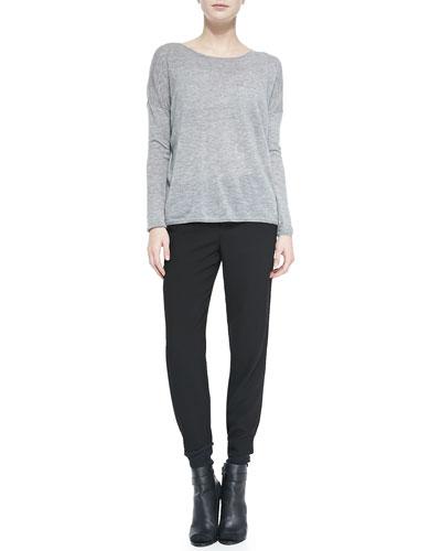 Vince Lightweight Knit Crewneck Sweater & Jersey Harem Pants
