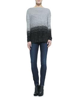 Vince Striped Boat-Neck Tee & Dylan Skinny Jeans