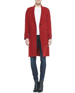 Vince Felt Modern Coat, Basic Tee & Dylan Skinny Jeans