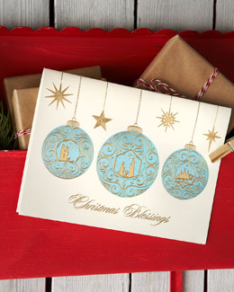 "Carlson Craft ""Christmas Blessings"" Personalized Holiday Greeting Cards"