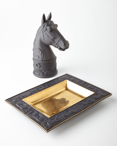 Horse Rectangular Tray & Bookend