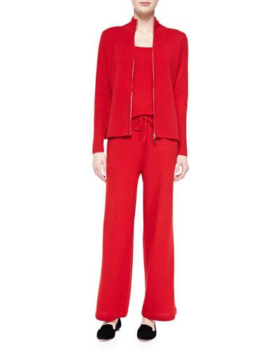 Neiman Marcus Cashmere Zip Jacket, Tank & Drawstring Pants