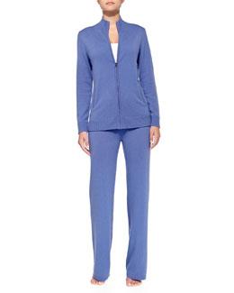 Neiman Marcus Cashmere Zip Jacket & Lounge Pants