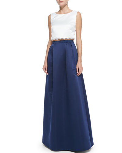 Jacqueline Crisscross-Back Top & Jacqueline Ball Skirt