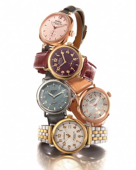 Shinola The Runwell Two-Tone Watch with Bracelet Strap,