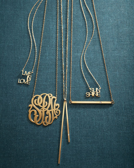Jennifer Zeuner Three-Initial Pendant Necklace