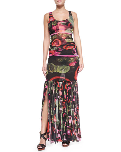 Abstract Car Wash-Print Tankini & Skirt