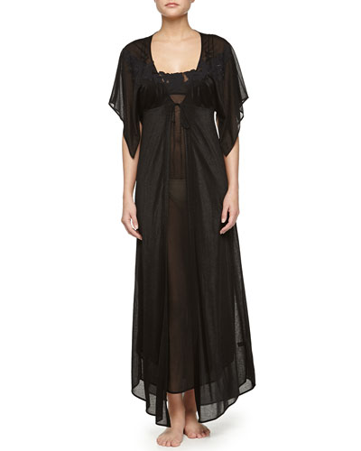 Ninfea Long Robe & Ninfea Lace-Trimmed Long Gown