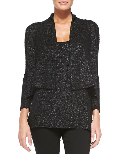 Cashmere Cropped Sequined Cardigan & Tank