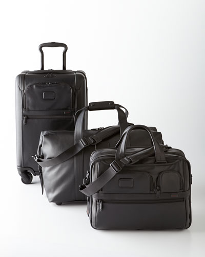 Tumi Black Alpha 2 Leather Luggage