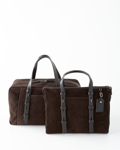 Tumi Mission Chocolate Harrison Leather Brief & Folson Duffel