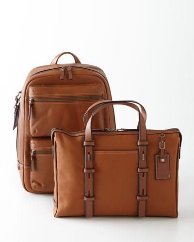 Tumi Mission Tan Harrison Brief & Bryant Backpack