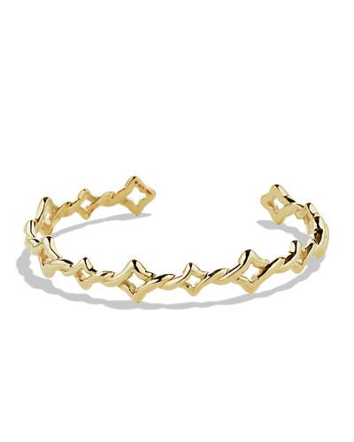 Venetian Quatrefoil Single-Row Bracelet in Gold