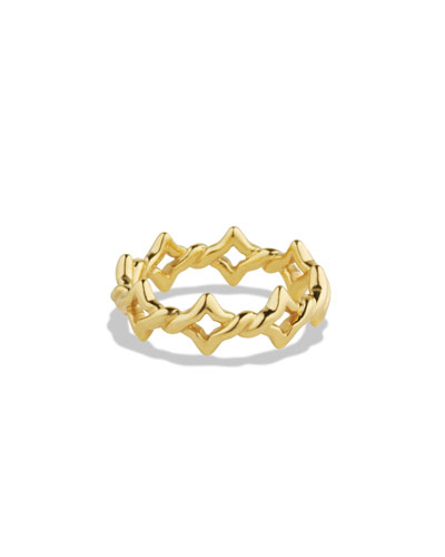 Venetian Quatrefoil Stacking Ring in Gold