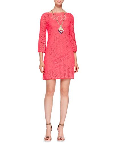 Topanga Lace Tunic Dress & Bombshell Necklace