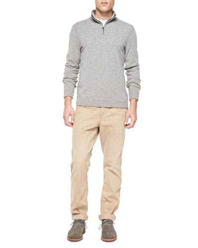 Zeeland Elbow-Patch Sweater & Relaxed Five-Pocket Trousers