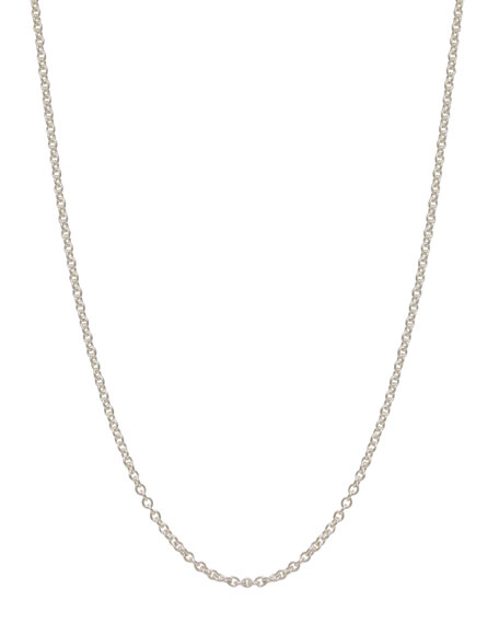 Heather Moore 2mm Sterling Silver Chain Necklace, 17