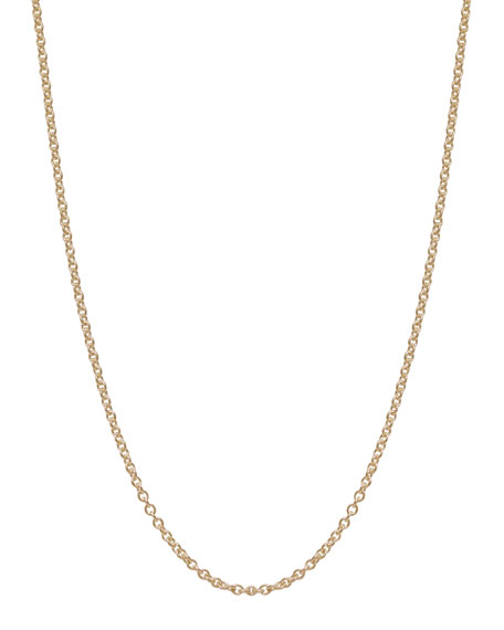 Heather Moore 2mm 14k Yellow Gold Chain Necklace,