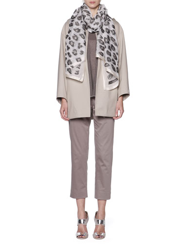 Storm System Hooded Topper Coat, Oversized Short-Sleeve Knit Tunic & Cropped Pants