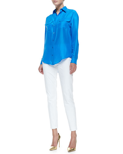 Benford Washed Silk Shirt & Bi-Stretch Cotton Annie Pants