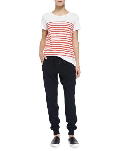 Vince Marker-Stripe Short-Sleeve Tee & Pull-On Drawstring Jogger Pants