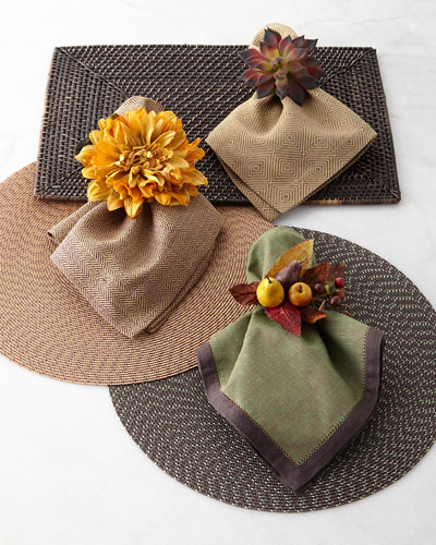 Fall-Hued Placemats, Napkins, & Napkin Rings