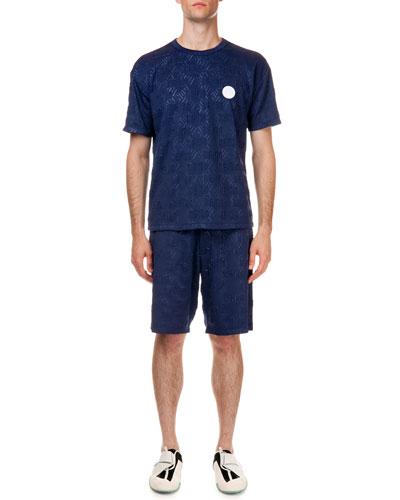 "3D ""Kenzo"" Patterned Short Sleeve Shirt & 3D ""Kenzo"" Patterned Sweat Shorts"