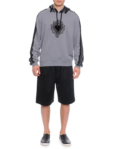 Passementerie Hooded Sweatshirt & Cotton-Blend Sweat Shorts