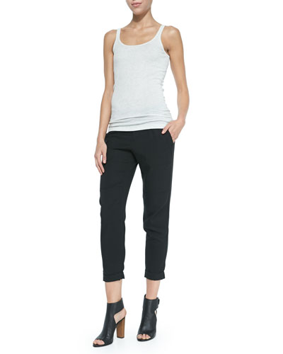 Favorite Pima-Modal Tank Top & Twill Cuffed Relaxed Pants